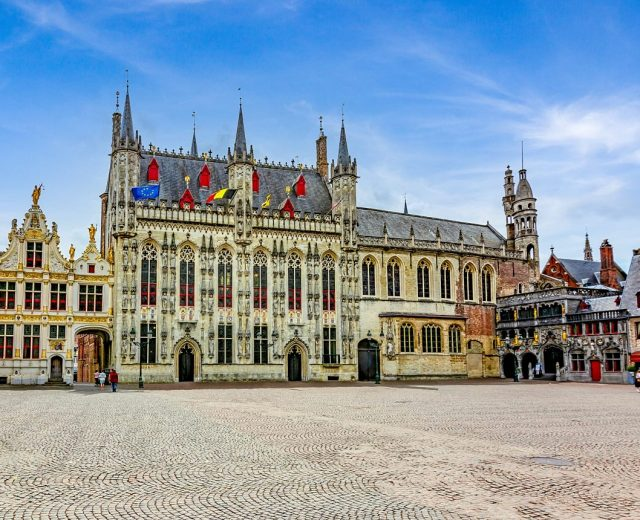 Brugge Town Hall and Basilica of Holy Blood
