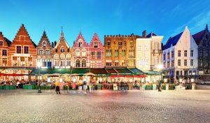 Bruges Xmas Market at night