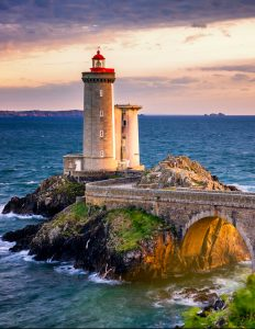Phare du Petit Minou lighthouse in Plouzane, Brittany