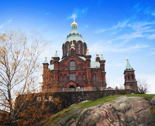 Uspenski Orthodox Cathedral in summer