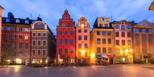 Gamla Stan in Old Town of Stockholm