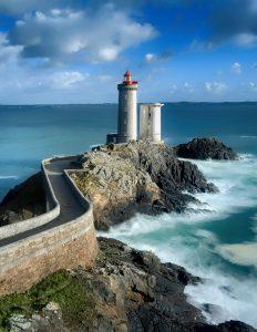 Phare du petit minou in Plouzane, Brittany, France