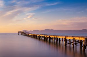 Pier on Playa de Muro Beach, Alcudia Majorca