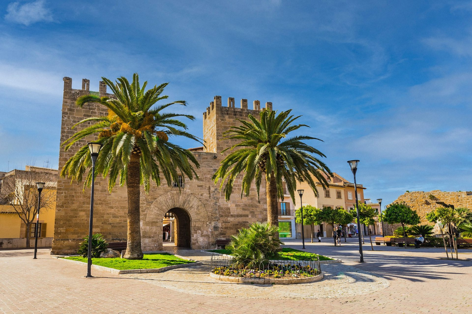 The medieval Xara Gate (Portal del Moll) in the Old Town Alcudia