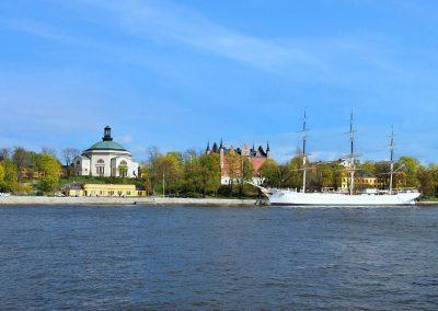 AF chapman moored on Skeppsholmen islland in Stockholm