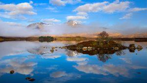 Rannoch Moor near Glencoe in the Scottish Highlands, Scotland.