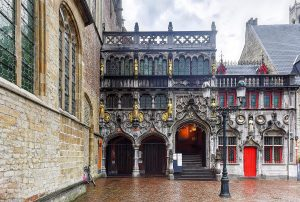 Basilica of the Holy Blood in Market Square Bruges, West Flanders, Belgium, a UNESCO World Heritage Site