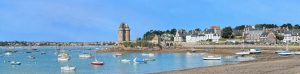Panoramic view of St Malo, Brittany, France