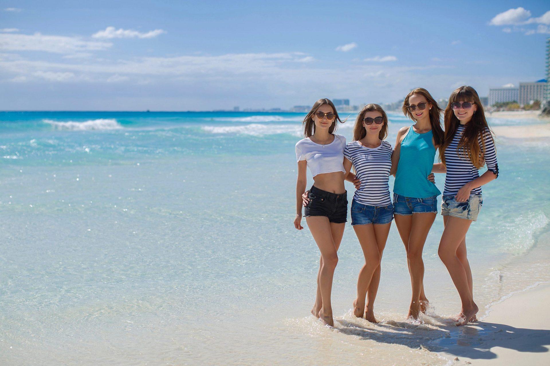 Young women on Palma Beach