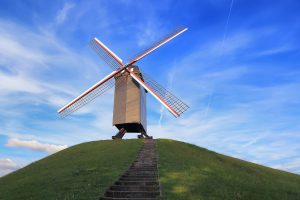 St Janshuis windmill bruges belgium