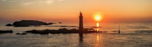 Dawn over St Malo Lighthouse