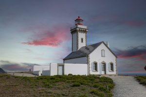 Lighthouse Belle-Île en mer , Brittany.