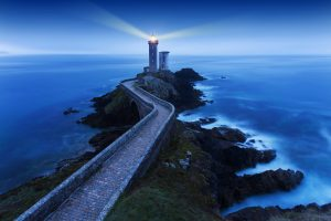 Lighthouse tPhare du petit minou in Plouzane